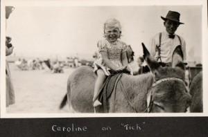 Caroline on donkey